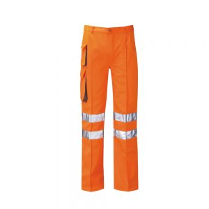 Hi Vis Orange Poly Cotton Cargo Trousers HV8111