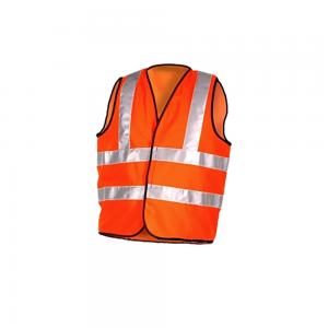 Hi Vis Orange Flame Retardant Vest - One Part with Velcro