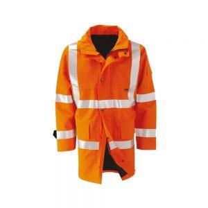 Hi Vis Orange Wet Weather Breathable Gore Tex Coat