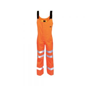 Hi Vis Orange Wet Weather Breathable Gore Tex Salopettes