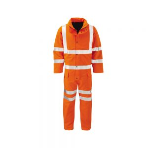 Hi Vis Orange Wet Weather Breathable Padded Gore Tex Coverall