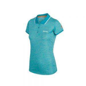 Regatta Womenrs Remex II Polo Neck T-shirt RWT178 Ceramic