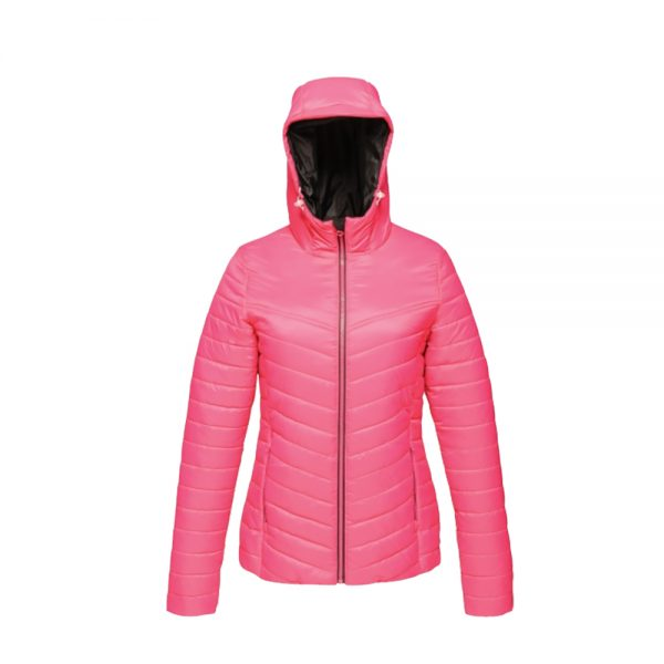 Regatta Women's Acadia II Warmloft Down-Touch Jacket TRA421 Hot Pink - Black