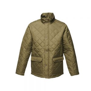 Regatta Mens Diamond Quilt Jacket (TRA441) Dark Khaki