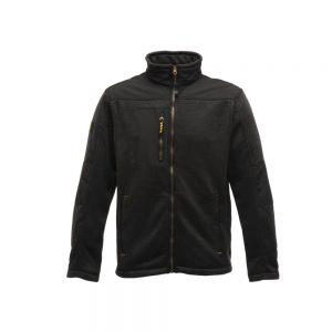 Regatta Mens Tempered Knit Effect Fleece (TRF571) Black